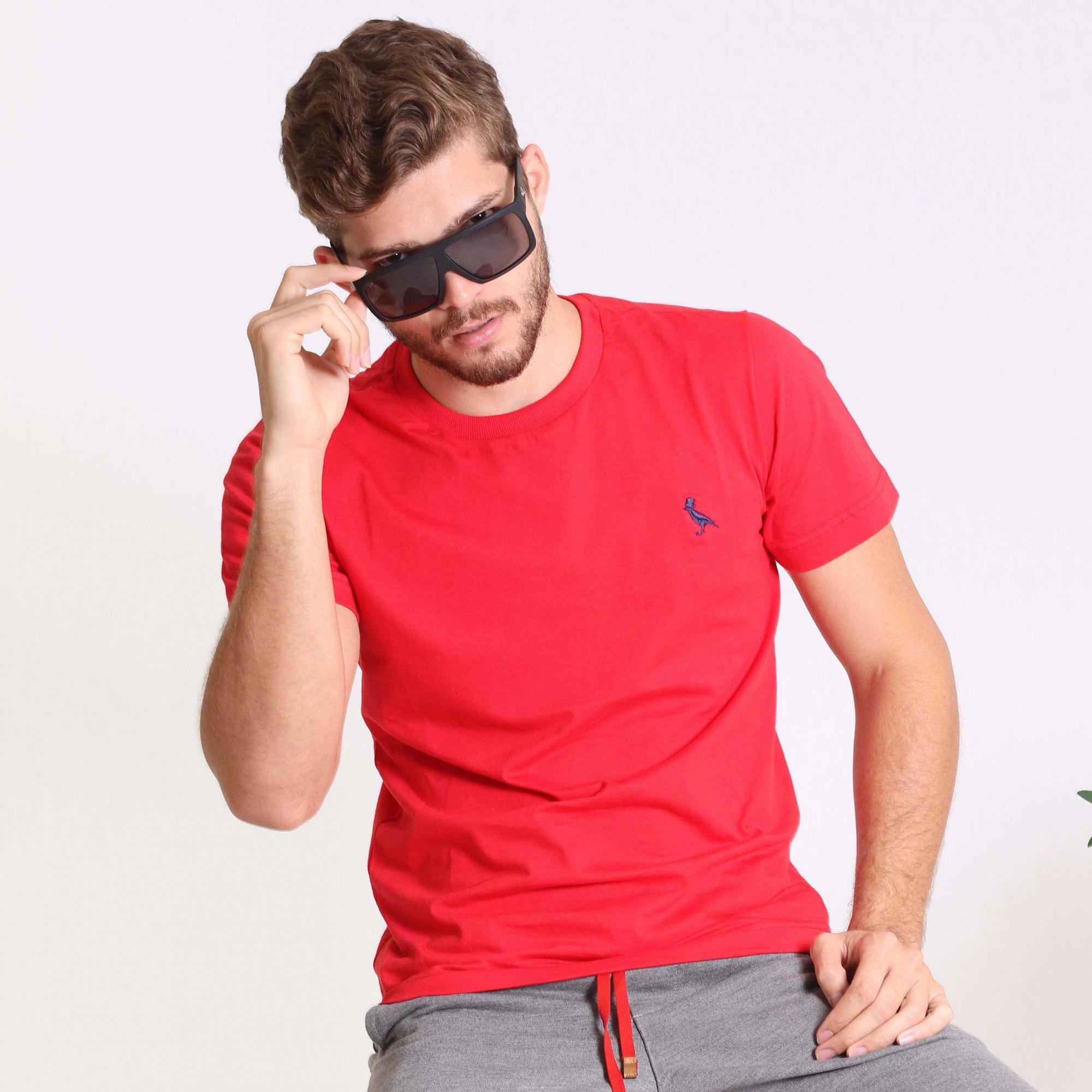 Camiseta Básica Vermelho  - Kactoos