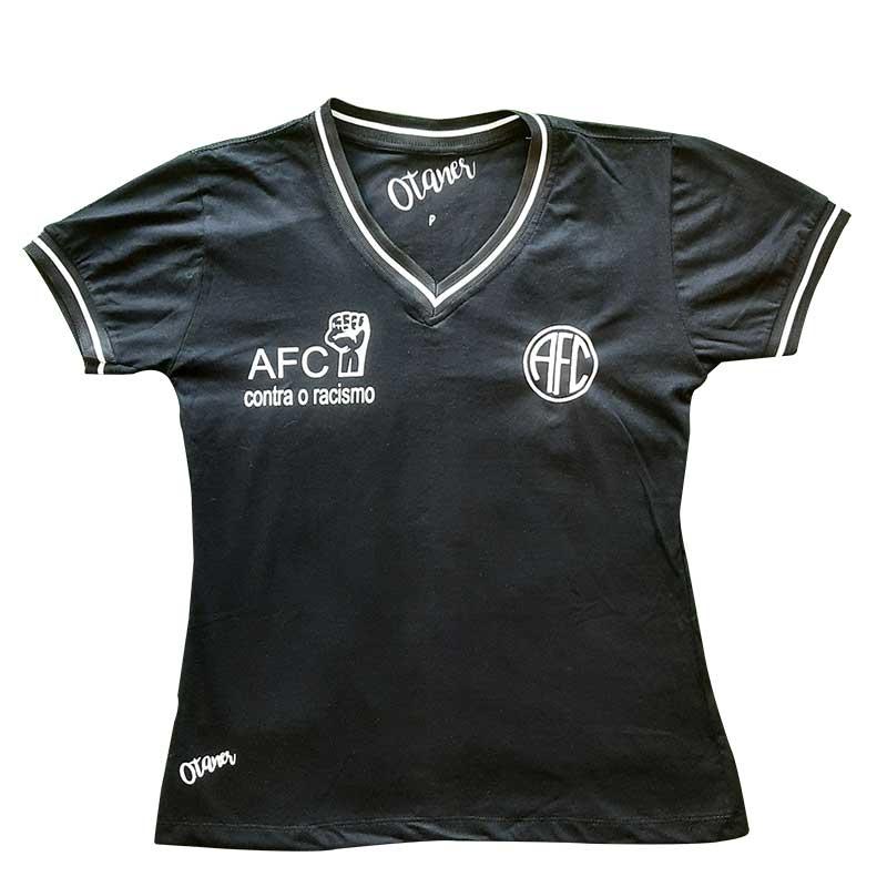 Camisa Feminina AFC Contra o Racismo