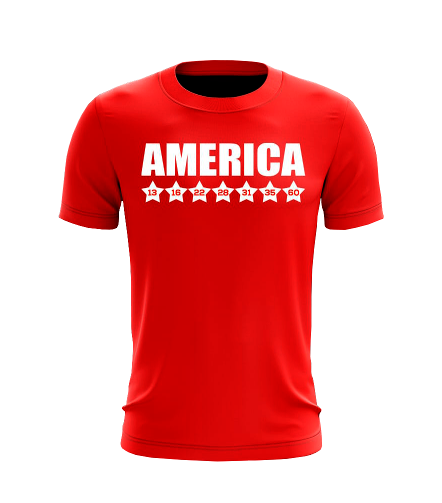 Camisa Masculina Títulos America