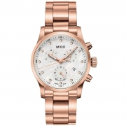 RELÓGIO MIDO MULTIFORT MOTHER OF PEARL DIAL ROSE GOLD PVD M0052173311600