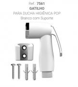 GATILHO DUCHA ABS BRANCA + SUPORTE (7561) CENSI