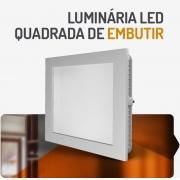 PAINEL LED 12W QUADRADO EMBUTIR 3000K SPOTLUX