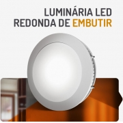 PAINEL LED 12W REDONDO EMBUTIR 3000K SPOTLUX