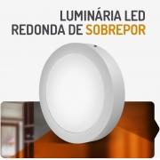 PAINEL LED 18W REDONDO SOBREPOR 3000K SPOTLUX
