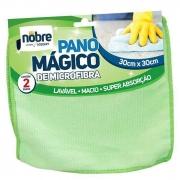 PANO MICROFIBRA 30X30CM 2PÇS VERDE NOBRE