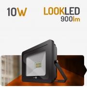 REFLETOR LED 10W 3000K PRETO SPOTLUX