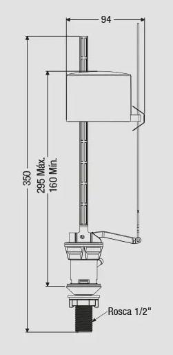 ENTRADA D'AGUA 295ML C/BOIA POP FLUX (9003) CENSI