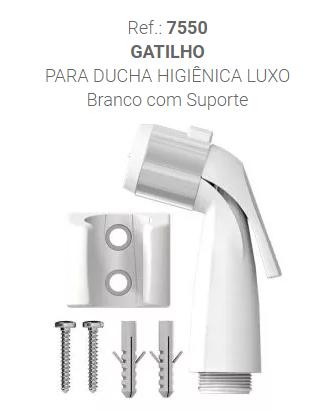 GATILHO DUCHA ABS C/CRIVO + SUPORTE BCO (7550) CENSI