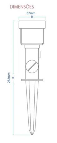 LUMINARIA JARDIM ESPETO LED 5W 3000K AVANT