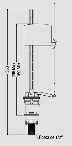 MECANISMO COMPLETO CX. ACOPLADA ENT. 295MM POP FLUX (9441) CENSI