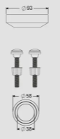 MECANISMO COMPLETO CX. ACOPLADA SUPERIOR ENTRADA MASTER FLUX/SAIDA DUAL FLUSH (9562) CENSI