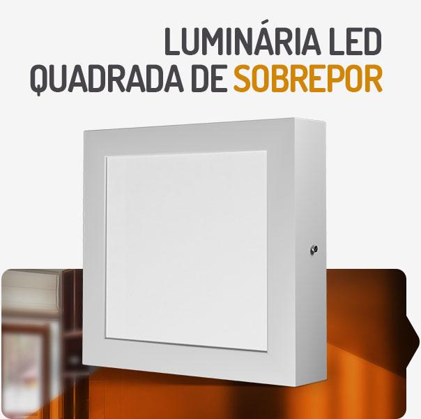 PAINEL LED 18W QUADRADO SOBREPOR 3000K SPOTLUX