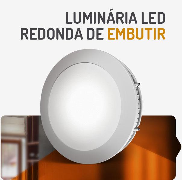 PAINEL LED 24W REDONDO EMBUTIR 3000K SPOTLUX