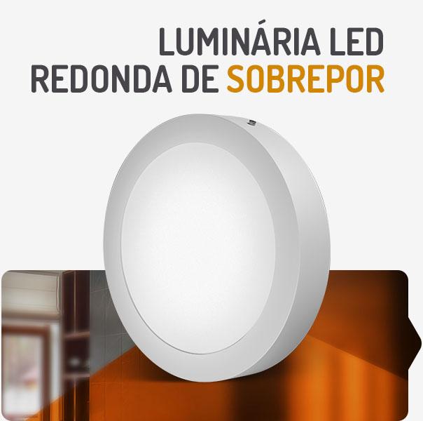 PAINEL LED 24W REDONDO SOBREPOR 3000K SPOTLUX