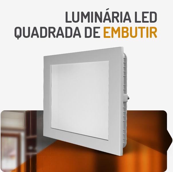 PAINEL LED 32W QUADRADO EMBUTIR 3000K SPOTLUX