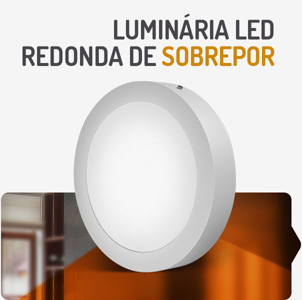 PAINEL LED  6W REDONDO SOBREPOR 3000K SPOTLUX