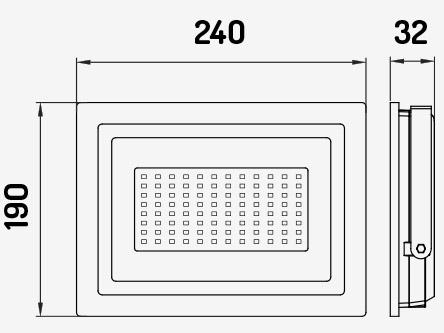 REFLETOR LED 100W 6000K PRETO SPOTLUX