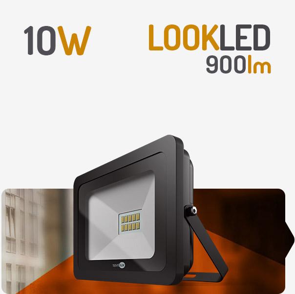 REFLETOR LED 10W 6000K PRETO SPOTLUX