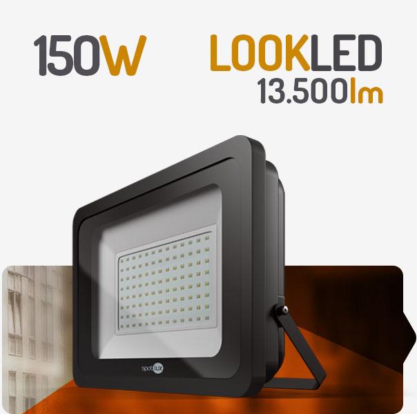 REFLETOR LED 150W 6000K PRETO SPOTLUX