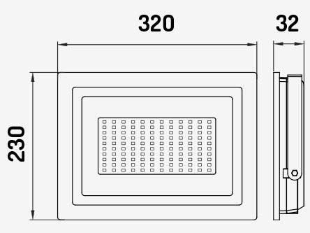 REFLETOR LED 200W 6000K PRETO SPOTLUX