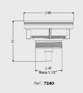 VALVULA PIA AMERICANA 3.1/2 METAL/PVC CENSI