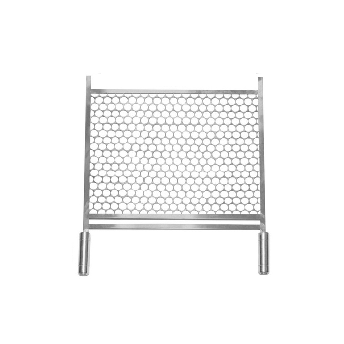 Grelha de Inox 30cm larg x 50 prof cabo de alumínio anti-calor