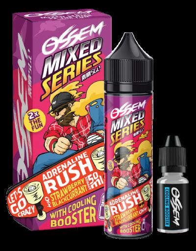 Adrenaline Rush Strawberry Blackcurrant 60ML - Ossem Juice