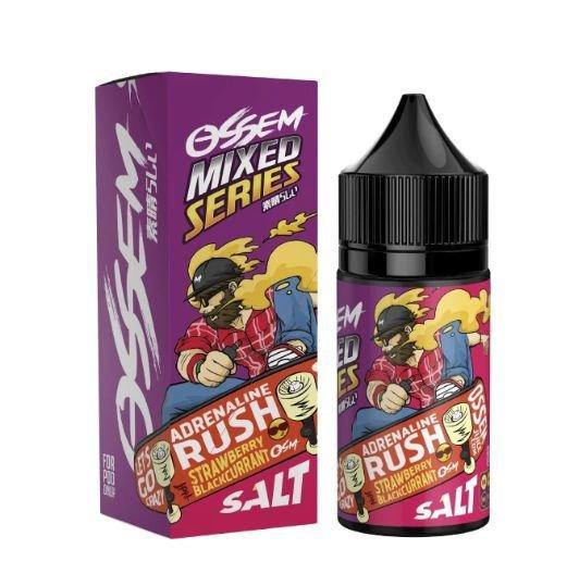 Adrenaline Rush Strawberry Blackcurrant Salt 30ML - Ossem Juice