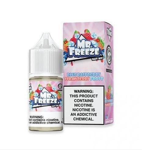 Blue Raspberry Strawberry Frost Salt 30ML - Mr. Freeze E-Liquid