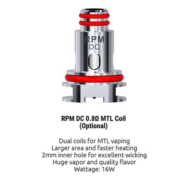 Coil RPM DC MTL Smok 0.8 Resistência (1 un.)