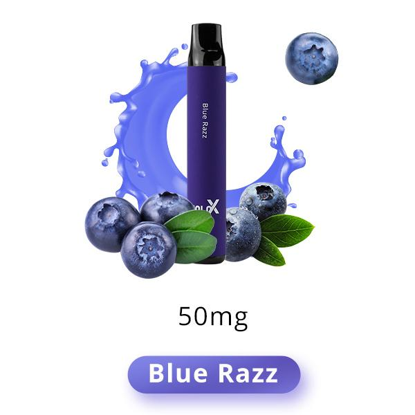 Pod Descartável Blue Razz 1500puffs - Solo X Vapeman