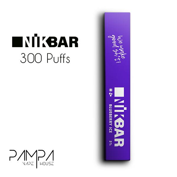 Pod Descartável Blueberry Ice 300puffs - Nikbar