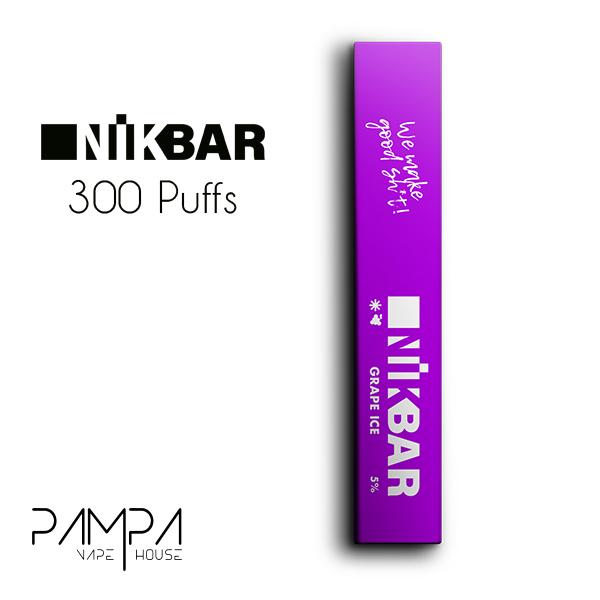 Pod Descartável Grape Ice 300puffs - Nikbar