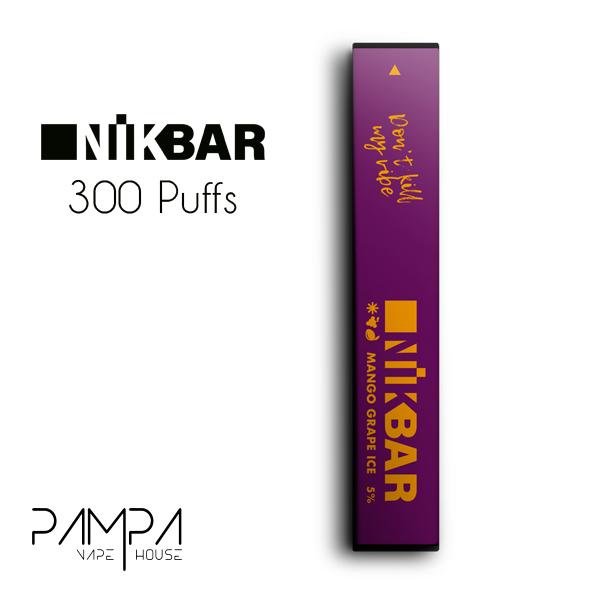 Pod Descartável Mango Grape Ice 300puffs - Nikbar