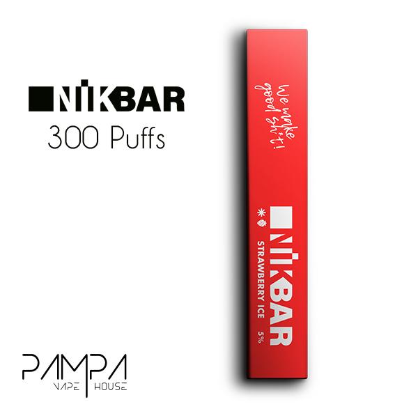 Pod Descartável Strawberry Ice 300puffs - Nikbar