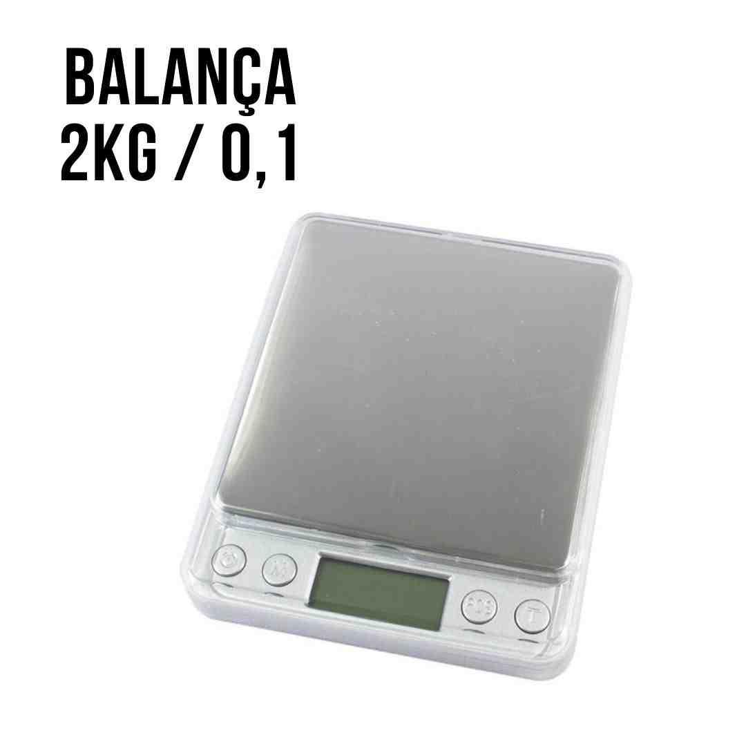 Balança Digital 0,1g Até 2000g Alta Precisão