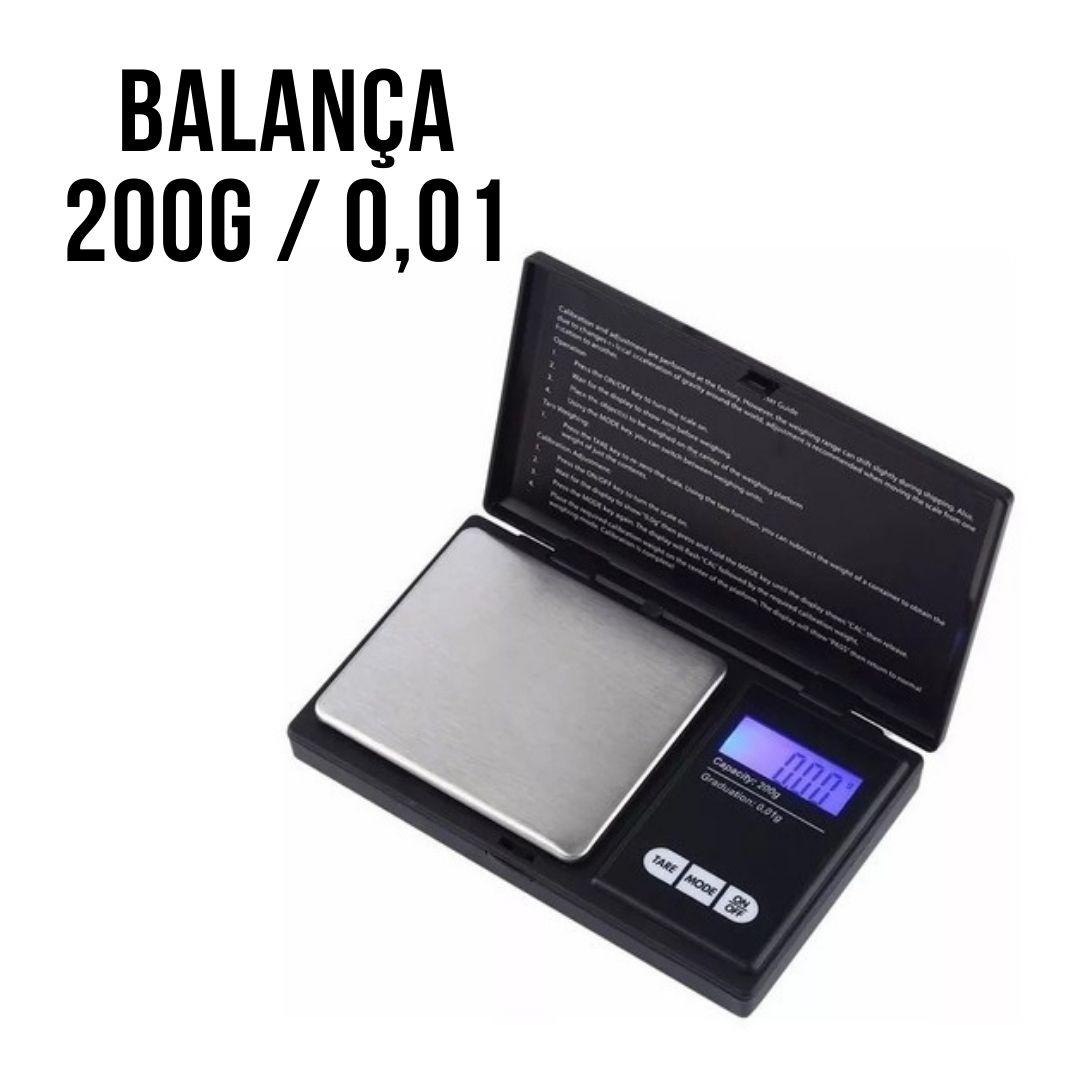 Kit Teste Ouro - Pedra De Toque + Ácido 18k + Balança 200g / 0,01g