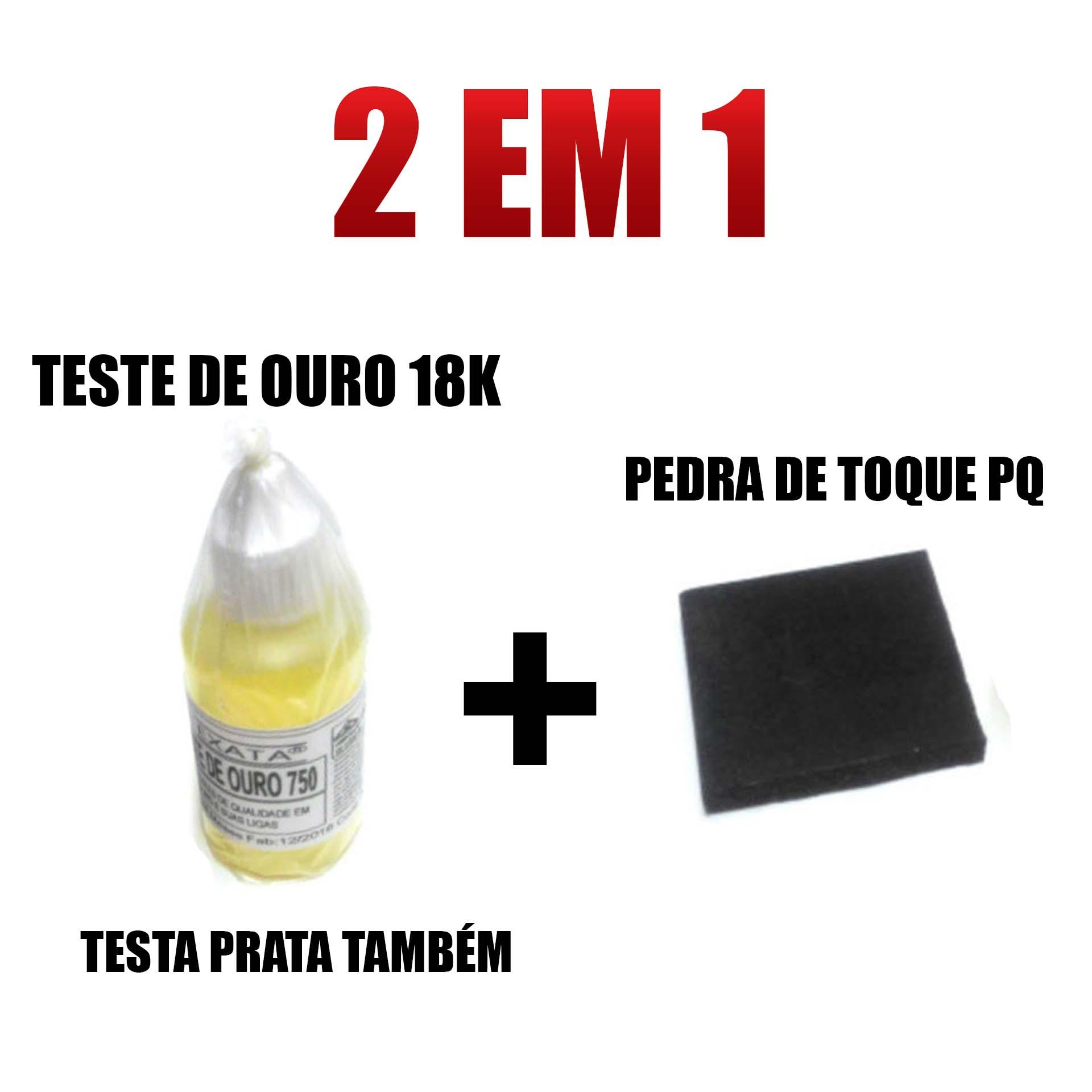 Kit Teste Ouro Prata - Pedra De Toque + Ácido 18k com 30 ml