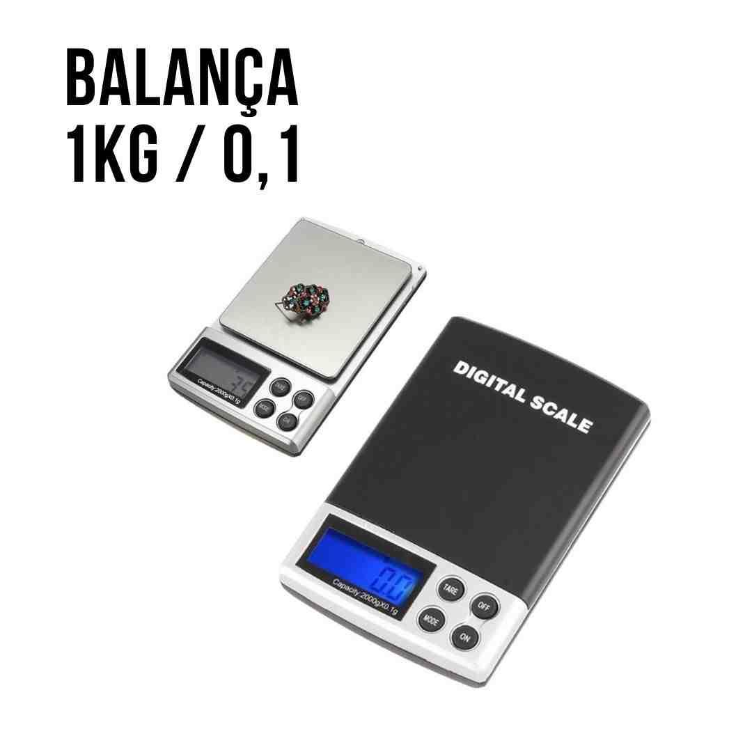 Mini Balanca Digital Scale 1 Kg / 0.1g Precisão