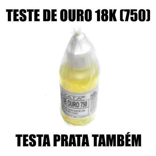 TESTE DE OURO 18K (750) - EXATA - ÁGUA DE TOQUE