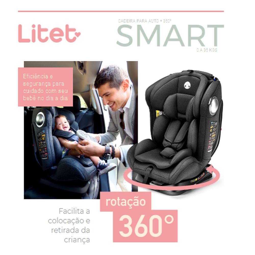 CADEIRA DE CARRO LITET SMART ISOFIX 360 0 A 36KG