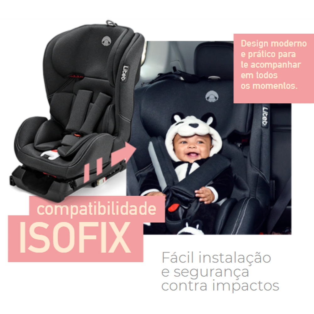 CADEIRA DE CARRO LITET WEE ISOFIX 0 A 36KG PRETO