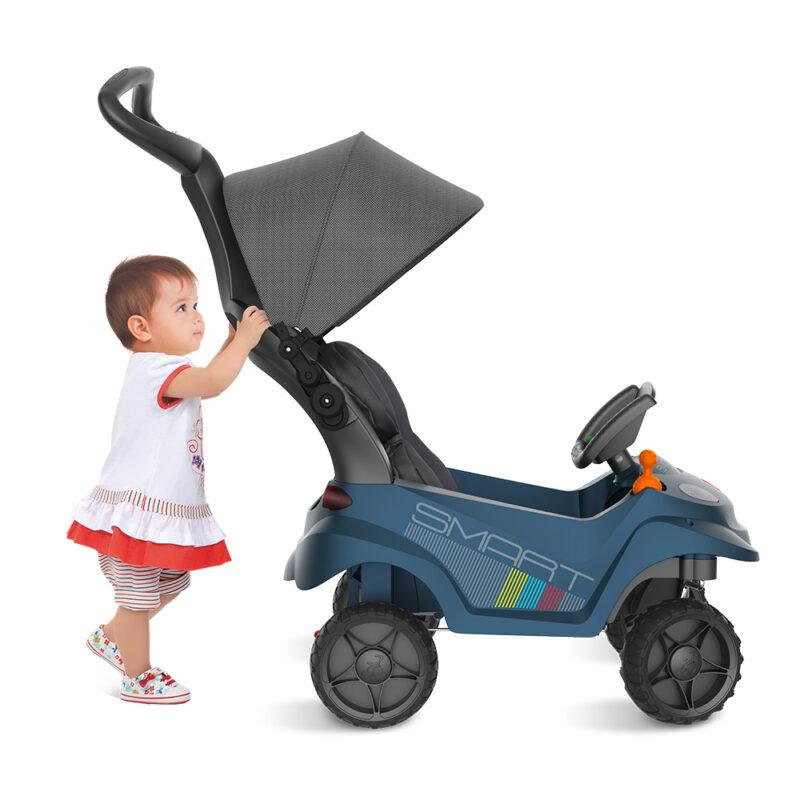 CARRO SMART BABY COMFORT AZUL BANDEIRANTE