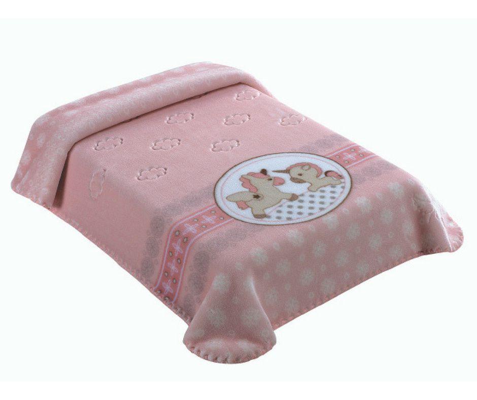 Cobertor Colibri Exclusive Estampado Cavalinho/ Unicórnio