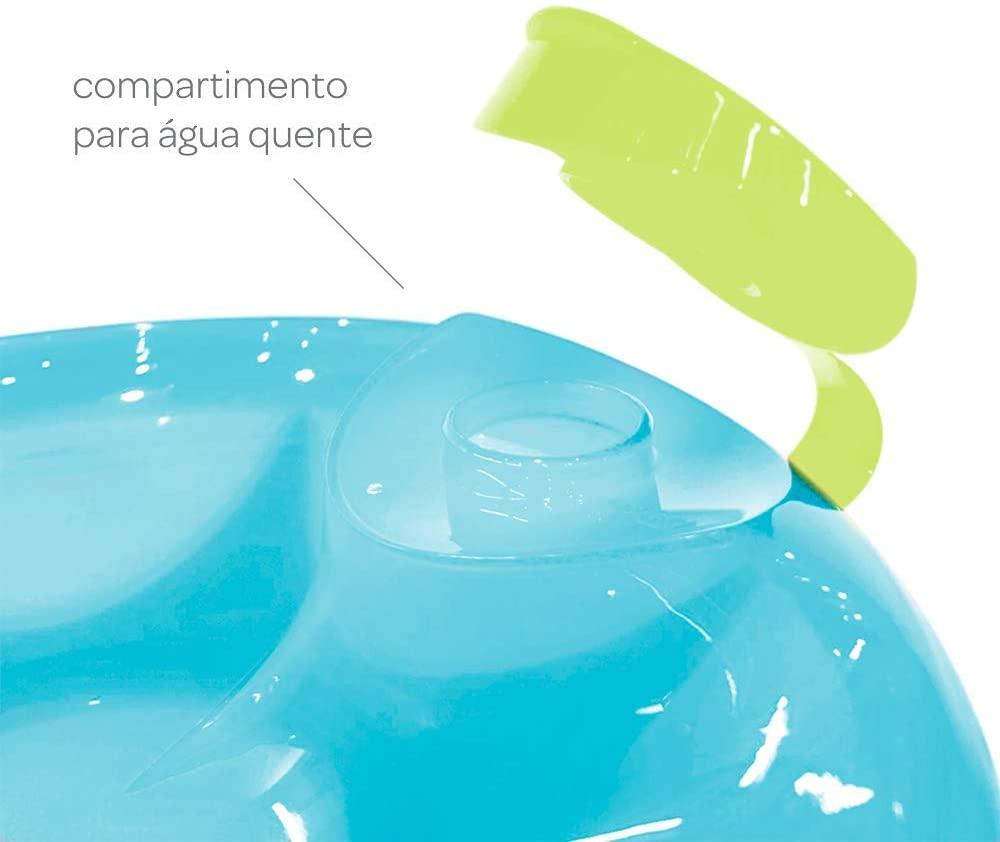 Prato Térmico Buba Com Ventosa Azul