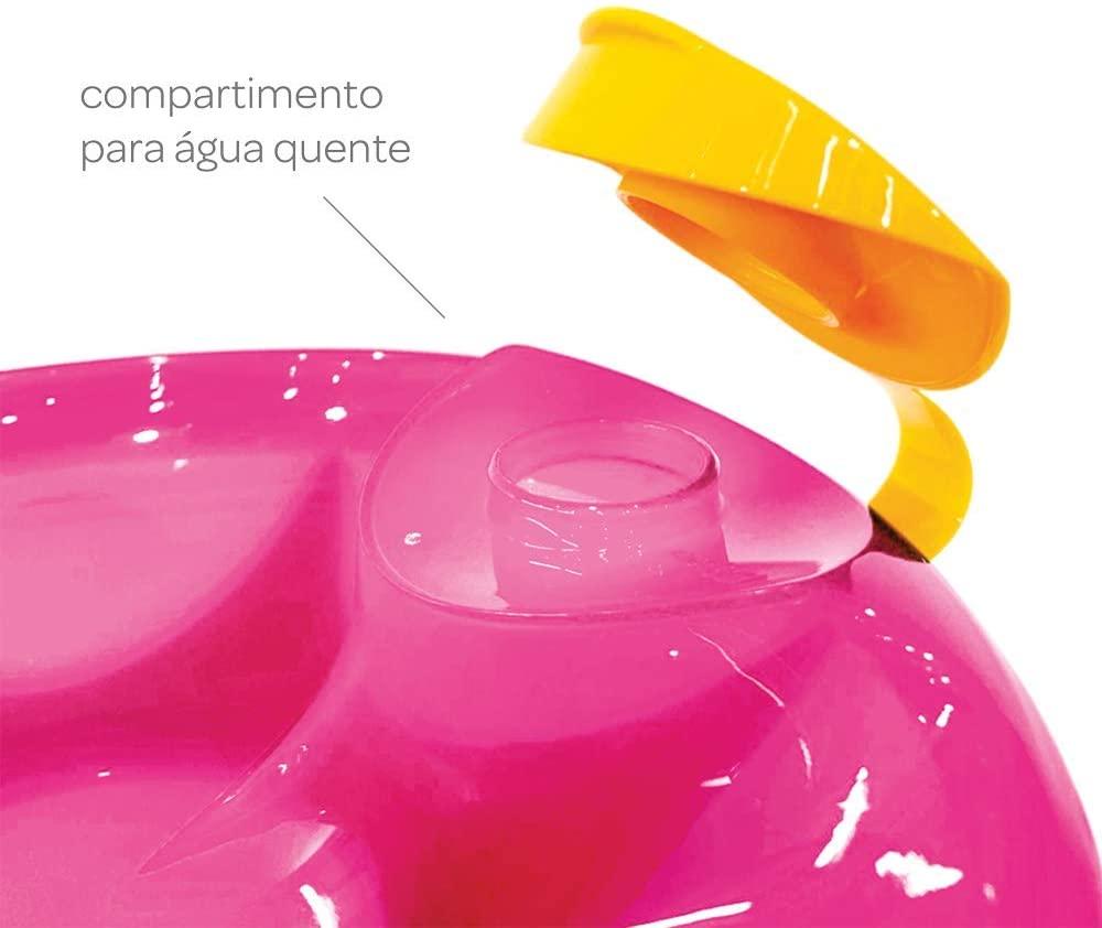 Prato Térmico Buba Com Ventosa Rosa