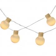 Cordão de Luz 20 bolinhas de Led Leitosa G50 3000K 127V