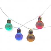 Cordão de Luz com 20 Lâmpadas de acrílico cristal RGBY G50 220V