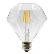 Lâmpada Decorativa Led Modelo Diamante D125 Vidro Cristal