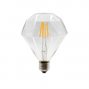 Lâmpada Decorativa Led Modelo Diamante D95 Vidro Cristal